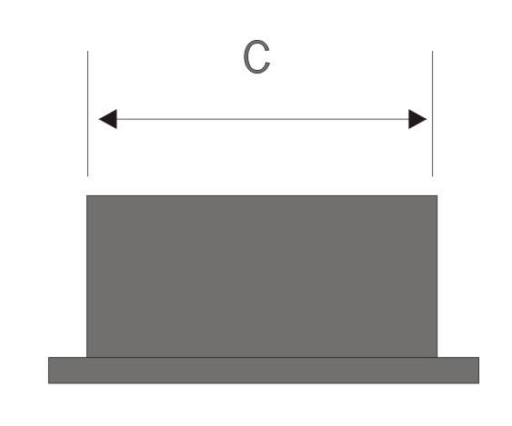 Contera rectangular para interior en goma tienda eguia for Conteras de goma