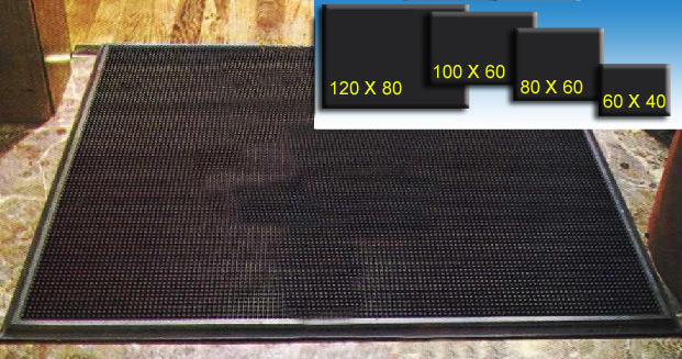Alfombra En Caucho 60 Cm X 40 Cm Color Negra Tienda Eguia