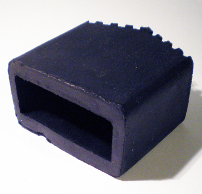 Contera rectangular para exterior en goma tienda eguia for Conteras de goma